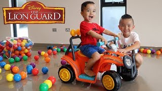 Disney's Lion Guard Ride On Car Toys Unboxing Learn Colors With Ckn Toys