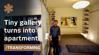 Tiny Art Gallery Turns Into Home Via Stealth Kitchen/bedroom