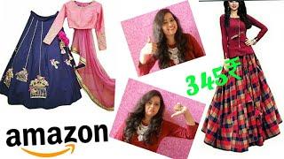 Amazon online shopping review and haul || amazon lehenga under 500 ₹