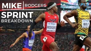 Improving Your Leg Stride Efficiency | Mike Rodgers Sprinting Breakdown | 9.89 100M Sprint