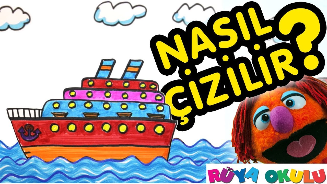 Gemi Nasıl çizilir Yolcu Gemisi çocuklar Için Resim çizme