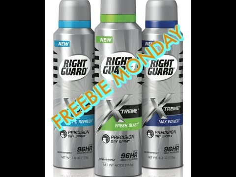 Freebie Monday!  Get A Free Right Guard Xtreme Precision Dry Spray Deodorant At CVS Or Walgreens!