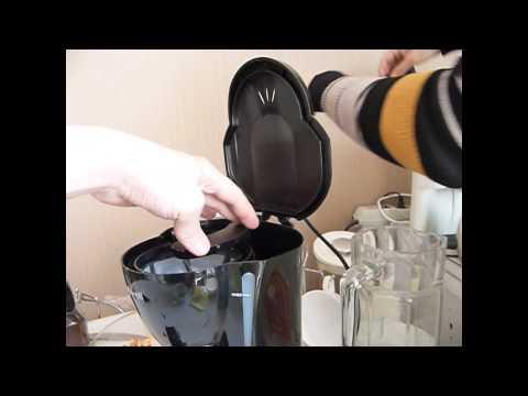 Как варить кофе в кофеварке Maxwell (римейк прошлогодних видео)))