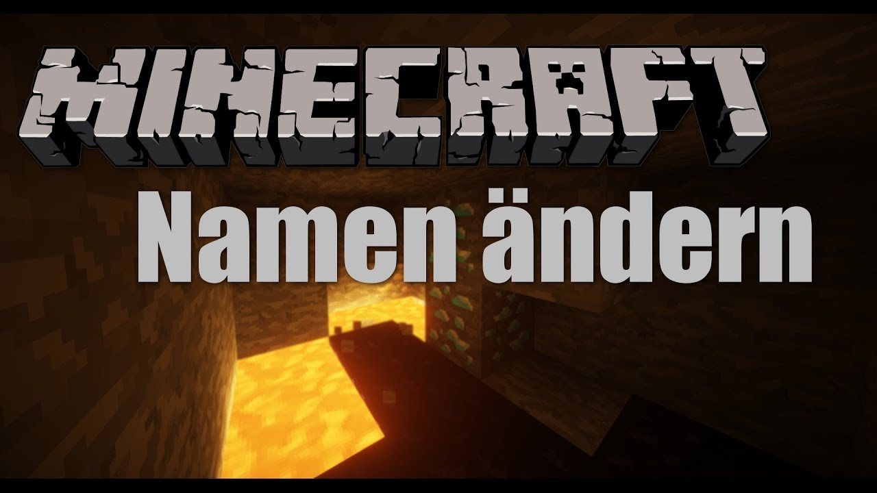 Minecraft Namen In MINUTEN ÄNDERN Alle Minecraft Versionen - Minecraft namen andern tutorial