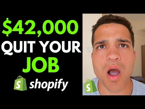 How to Make $42,000/Month & QUIT Your Job with Dropshipping (Shopify Dropshipping 2019) thumbnail