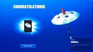 "How To Get FREE ""SNOWFALL"" UMBRELLA In Fortnite! Season 7 SNOWMAN GLIDER / SKINS REWARD TUTORIAL"