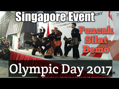 Singapore Event Best Pencak Silat Demo Olympic Day 2017