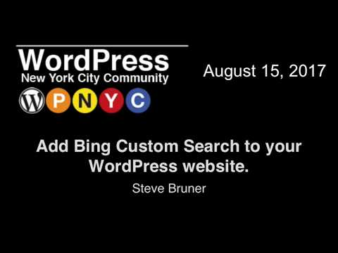 Add Bing Custom Search to your WordPress website