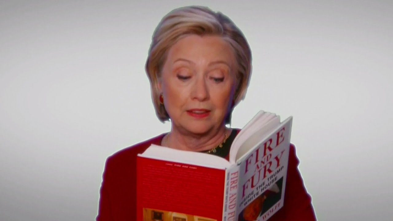 """Download Hillary Clinton, Cardi B & MORE Troll Trump With """"Fire And Fury"""" Skit At 2018 Grammys"""