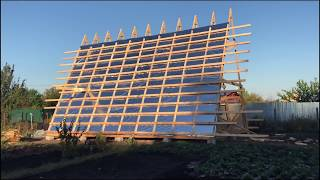 Дом Шалаш по Каркасной Технологии / A-frame house / Дачный летний дом