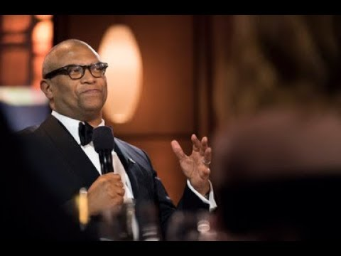 Reginald Hudlin honors Charles Burnett at the 2017 Governors Awards
