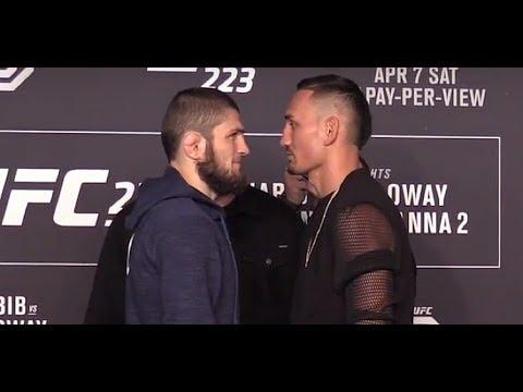 UFC 223: Khabib Nurmagomedov vs Max Holloway Media Day Face-Offs
