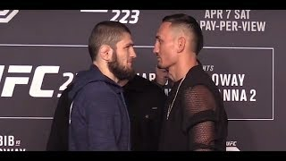 UFC 223: Khabib Nurmagomedov vs Max Holloway Media Day Face-Offs