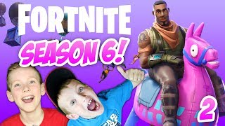 FORTNITE SEASON 6 BATTLE PASS! Family Friendly Gameplay Part 2