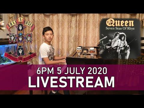 Livestream Piano Concert – Seven Seas of Rhye, Sweet Child O' Mine Sunday 6pm 5 Jul 2020