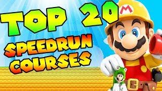 """20 BEST """"SUPER MARIO MAKER 2"""" SPEEDRUN COURSES! (Hidden Gems)"""