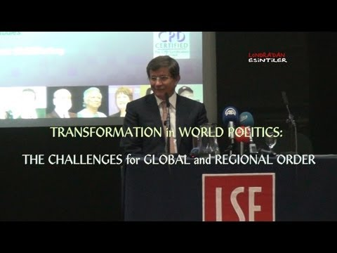 Turkish Foreign Minister Ahmet Davutoglu's Conferance (Full Length) at LSE, London March 2013 HD