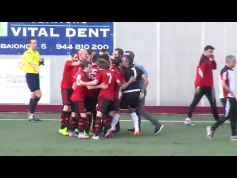 Segunda B 2015-16. Resumen Arenas Club 3 - Sestao River 3