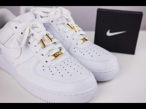 Air Force One Lows with Custom Dubraes and Aglets With On Foot