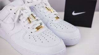 Air Force One Lows with Custom Dubraes and Aglets (With On Foot)