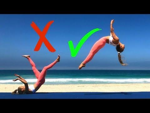 BAD LEG Gymnastics challenge | Teagan & Sam