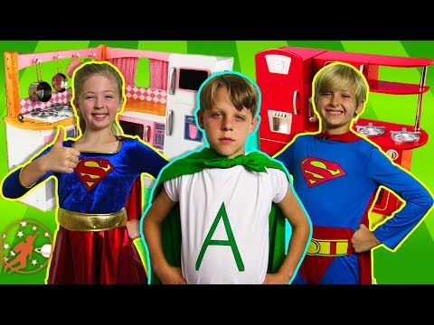 New Sky Kids Super Episode - Kids Kitchen, The Superheroes, and The Kidkraft Wooden Toy Kitchens