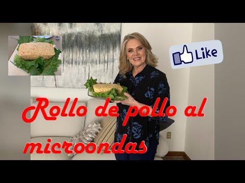 ROLLO DE POLLO AL MICROONDAS