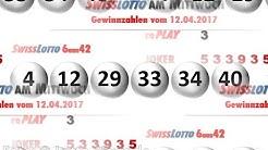 Swiss Lotto: Gewinnzahlen vom Mittwoch 12.04.2017; Jackpot steigt weiter