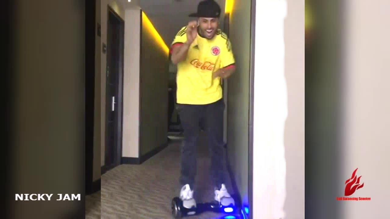 Nicky Jam on hoverboard Celebrities on hoverboards mega list 2016 best hoverboard brands