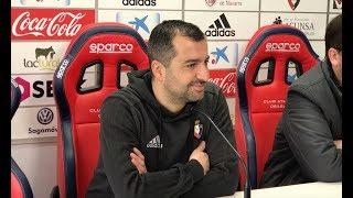 Diego Martínez. Previa Almería-Osasuna