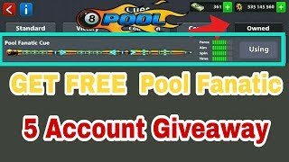 8 Ball Pool Get Free 【 Pool Fanatic 】 5 Account Giveaway On ( MR.H ) 👍👍