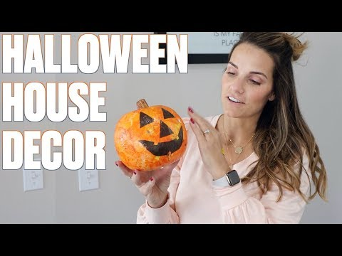 DECORATING FOR FALL ON A BUDGET | MINIMAL AND CLEAN HOME DECOR | HALLOWEEN HOUSE DECORATIONS