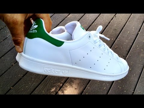 sports shoes 5a1da ed3e4 Adidas Originals - Stan Smith White/Green - ON FEET + Fit ...
