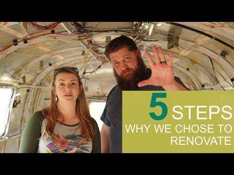Our deciding steps to renovate a 1978 Airstream