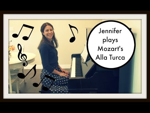 Jennifer Plays Mozart's Alla Turca