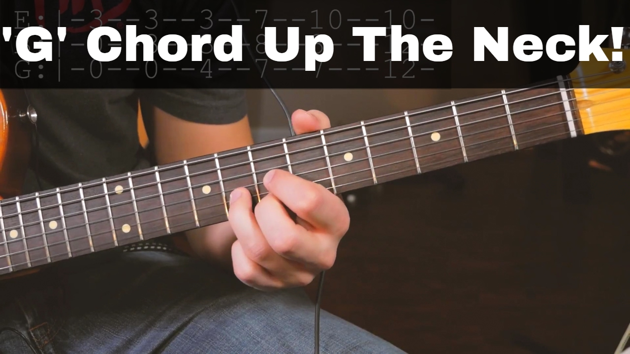 G Chord Triads Up The Neck On Top 3 Strings Youtube
