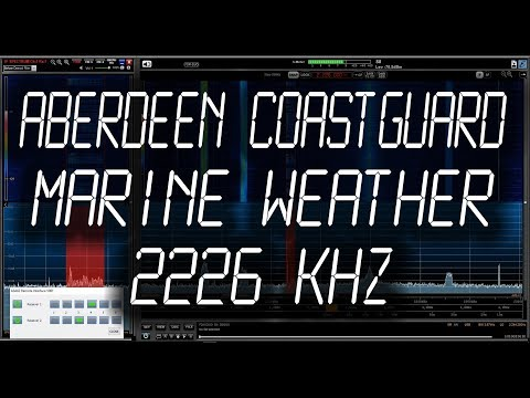 Aberdeen Coastguard, Scotland - Weather Marine Forecast - 2226 kHz