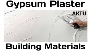 Gypsum Plaster   Building material and Construction