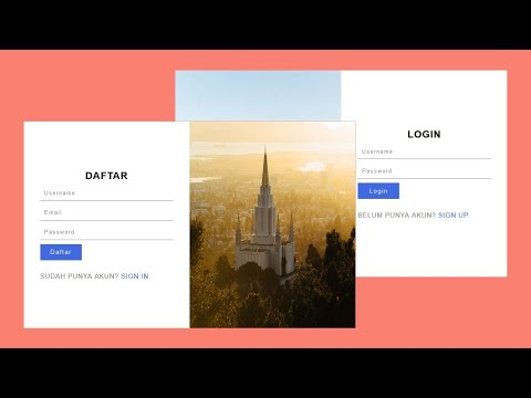 Form Sigin Dan Sigup Responsive | HTML CSS Javascript