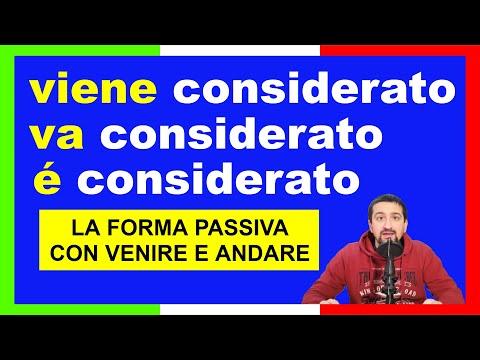 verbi italiani: la forma passiva con VENIRE e ANDARE (con sottotitoli in italiano e in inglese)