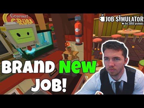WORKING IN THE WORST RESTAURANT IN VR - Job Simulator