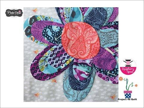 Project 48 Quilt Applique Flower block