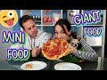 🍩 GIANT FOOD vs MINI FOOD 🍪Comida Gigante vs Comida Mini / No Te Aburras challenge.
