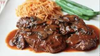 Beef Medallions With Caramelized Tomato Mushroom Pan Sauce - Beef Tenderion Medallions