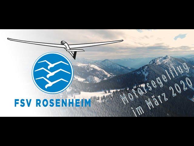 Motorsegelflug im März 2020 - Flugsportverein Rosenheim