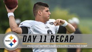 Mason Rudolph, Coach Tomlin recap Day 11 | Pittsburgh Steelers Training Camp