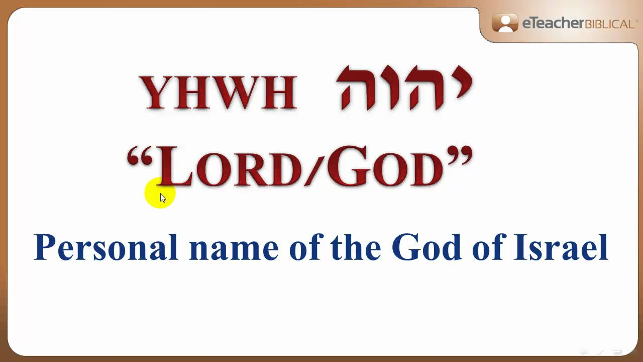what does the lord's name mean? | biblical hebrew q&a with