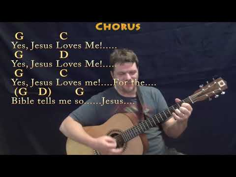 Jesus Loves Me (Hymn) Strum Guitar Cover Lesson in G with Chords/Lyrics - Slow
