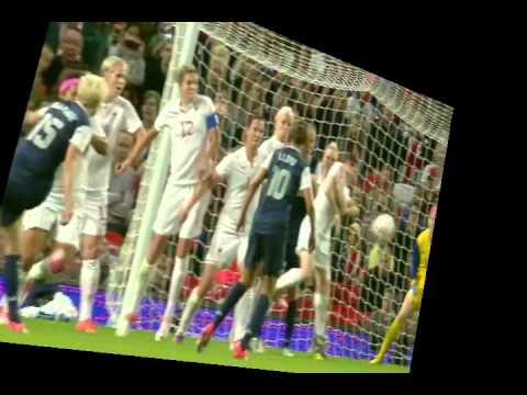 Canada vs USA and referee Christiana Pedersen Women's Olympic soccer 2012