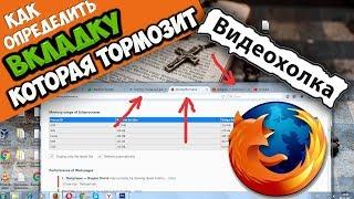 Как определить вкладки, которые тормозят Mozilla Firefox